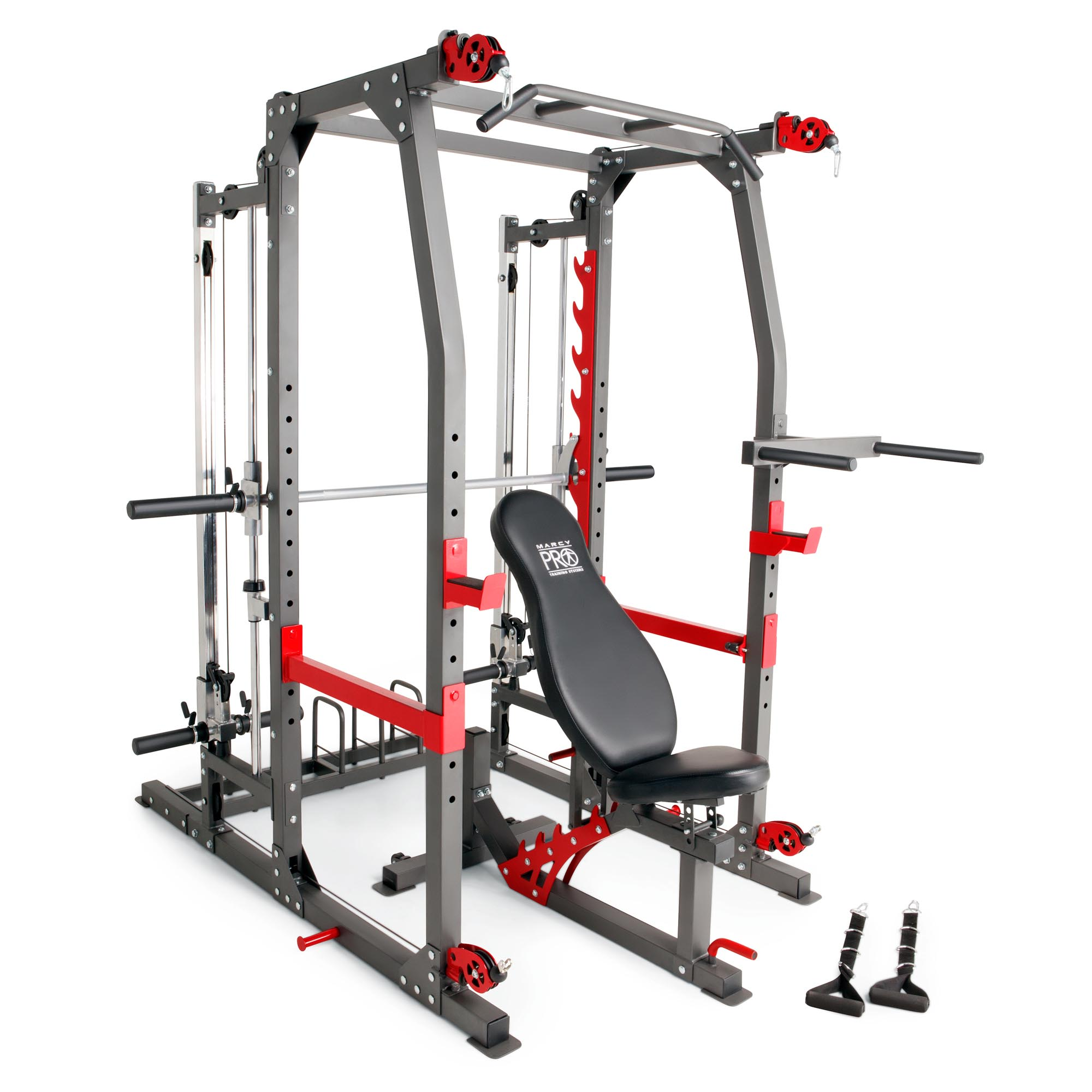 Marcy Pro Smith Machine Weight Bench Home Gym Total Body Workout Training