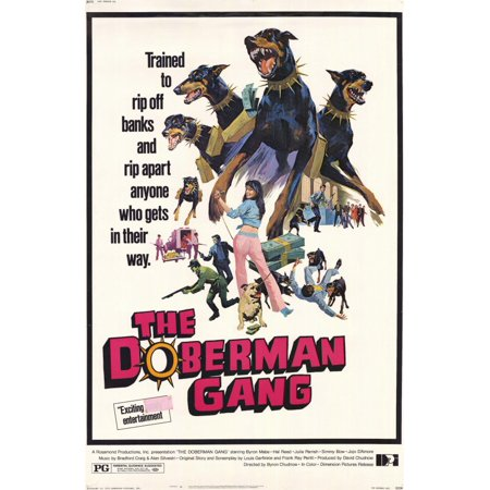 The Doberman Gang (1972) 11x17 Movie Poster