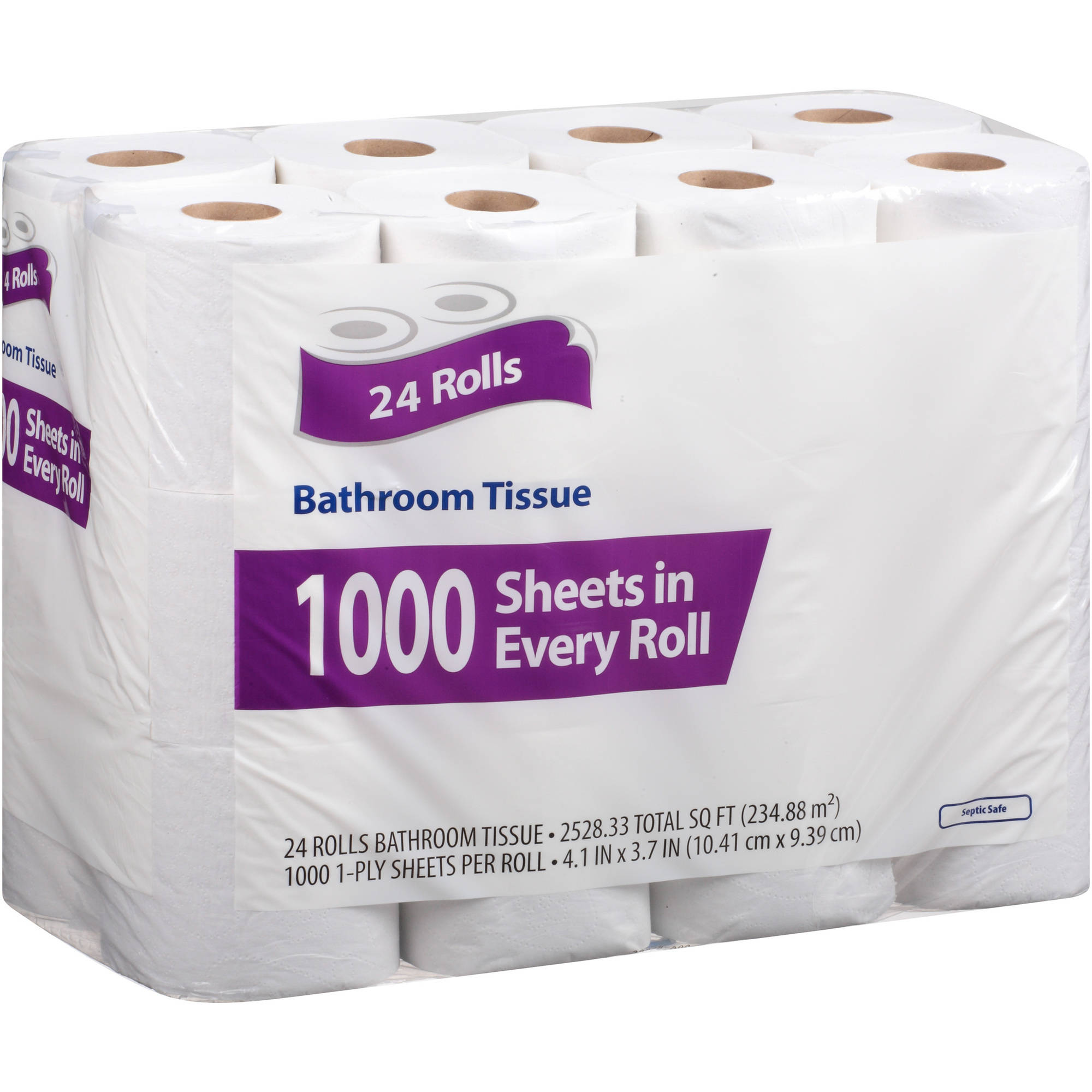 Bathroom Tissue, 1000 sheets, 24 rolls