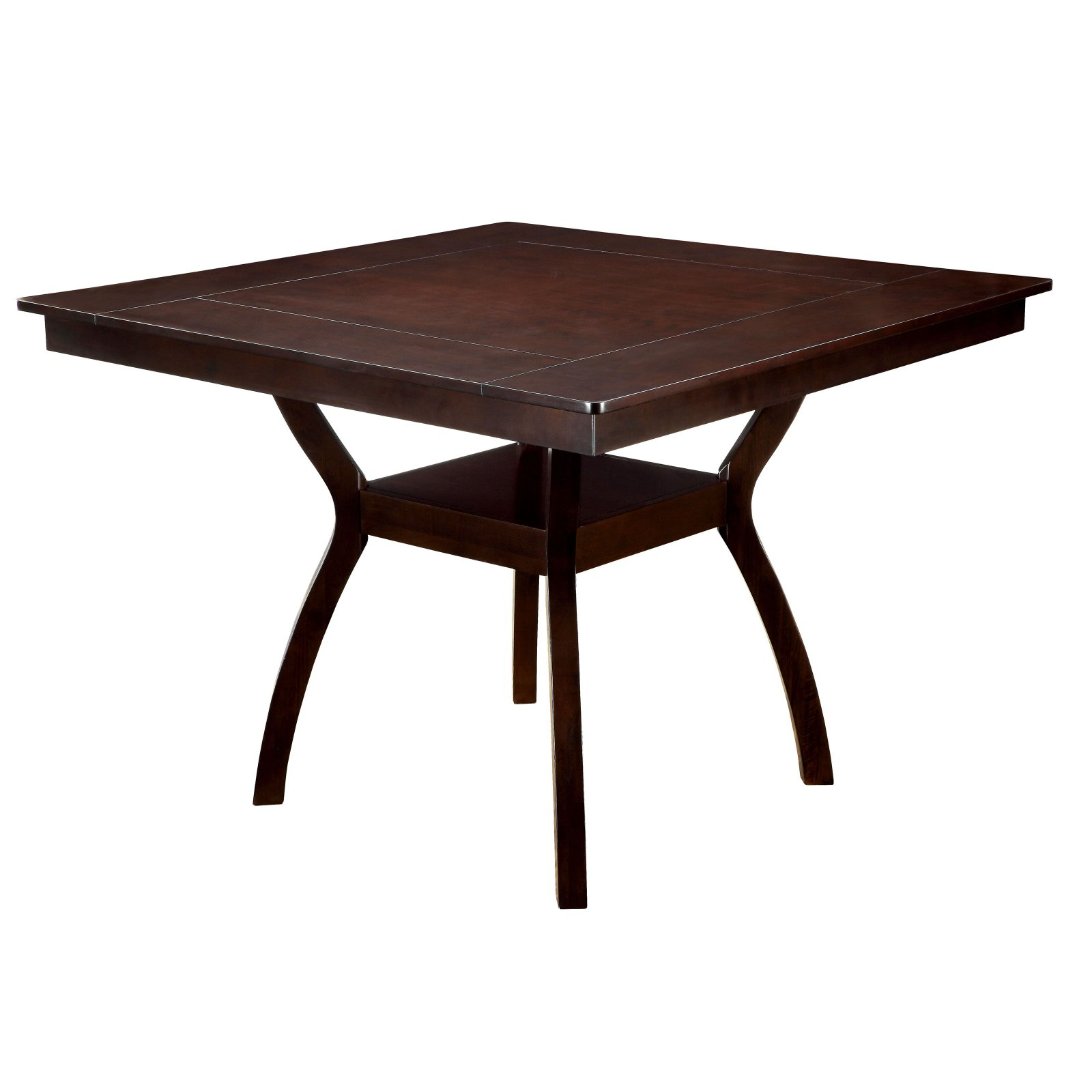 Furniture of America Mullican Counter Height Display Top Dining Table