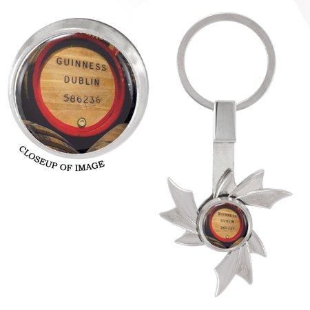 Guinness Dublin Beer Keg Fidget Spinner Keychain