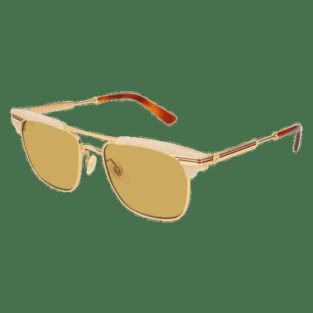 8108df39385 Gucci - Sunglasses Gucci GG 0287 S- 005 BEIGE   BROWN GOLD - Walmart.com