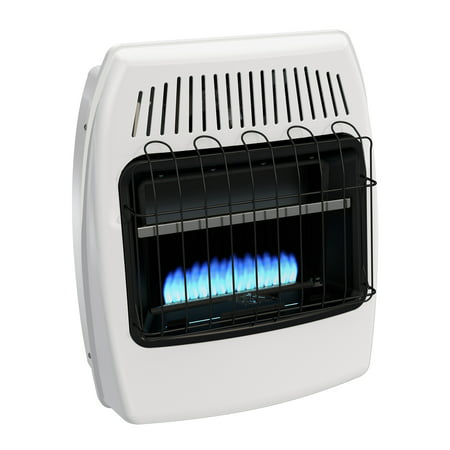 Dyna glo 20 000 btu natural gas blue flame vent free wall for Heating options for homes without gas