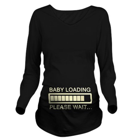 acd806a1e7 CafePress - Baby Loading Wait Long Sleeve Maternity T Shirt - Long Sleeve Maternity  T-Shirt