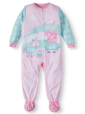 Peppa Pig Toddler Girl Microfleece Blanket Sleeper Pajamas