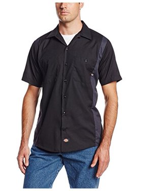 Dickies Occupational Workwear Ls524Bkch 4Xl Polyester/ Cotton Men's Short Sleeve