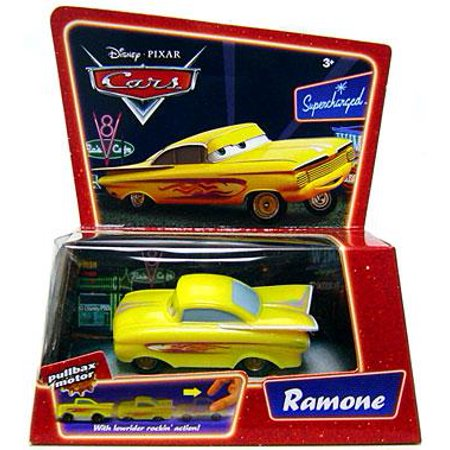 Disney Cars Pullbax Motor Pull Back Ramone Plastic Car [Yellow]](Plastic Cars)