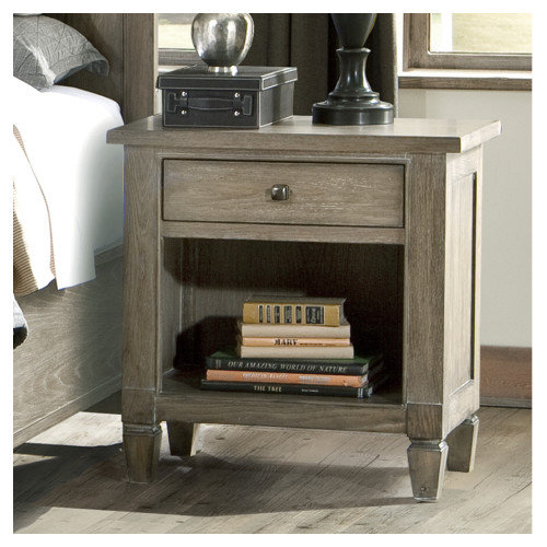 Brownstone Village 1 Drawer Open Nightstand - Aged Patina
