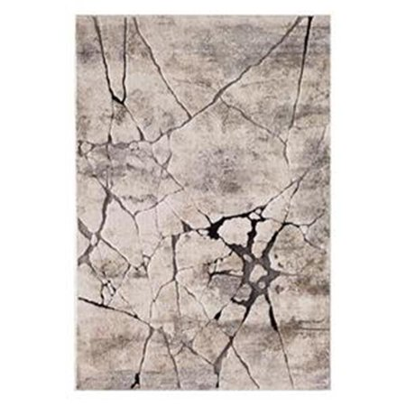 Central Oriental Polyester - Central Oriental 9702.61.51 Rainier Oregon Polypropelene & Polyester Blend Rug, Grey & Beige - 5 ft. x 7 ft. 3 in.