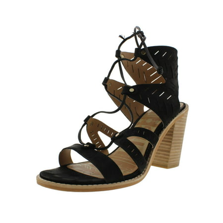 Dolce Vita Womens Luci Leather Laser Cut Gladiator Sandals
