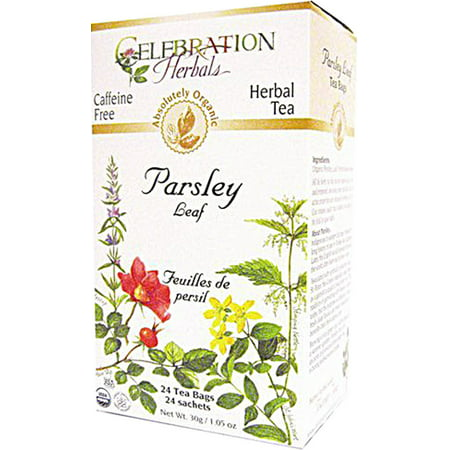 Celebration Herbals Feuilles de persil thé biologique, 24 Ct