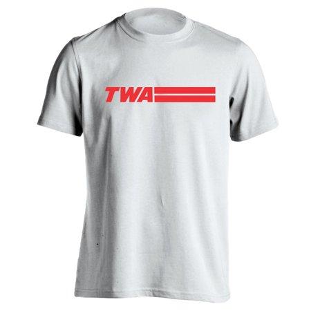 Airline Tee - Retro Twa Airlines Small White Basic Men's T-Shirt