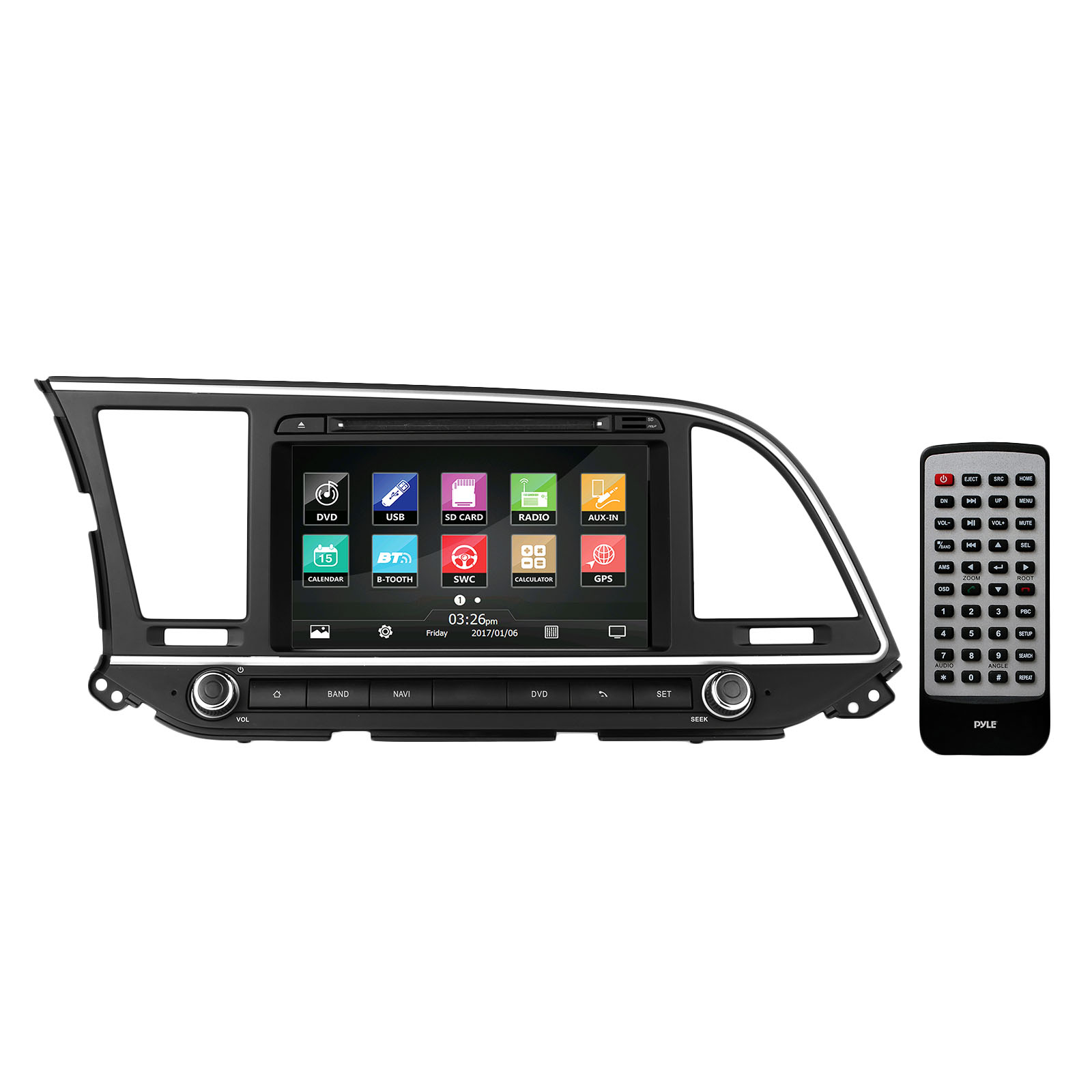 2016 Hyundai Elantra Factory OEM Replacement Stereo Receiver, Plug-and-Play Direct Fitment Radio Headunit by Pyle