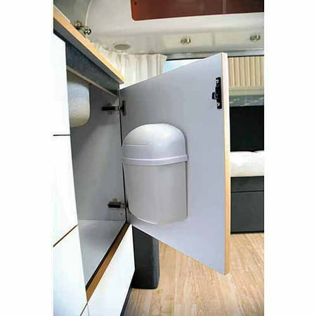 camco cabinet mount trashcan mountable trash bin for cabinet doors and tight places won 39 t move. Black Bedroom Furniture Sets. Home Design Ideas