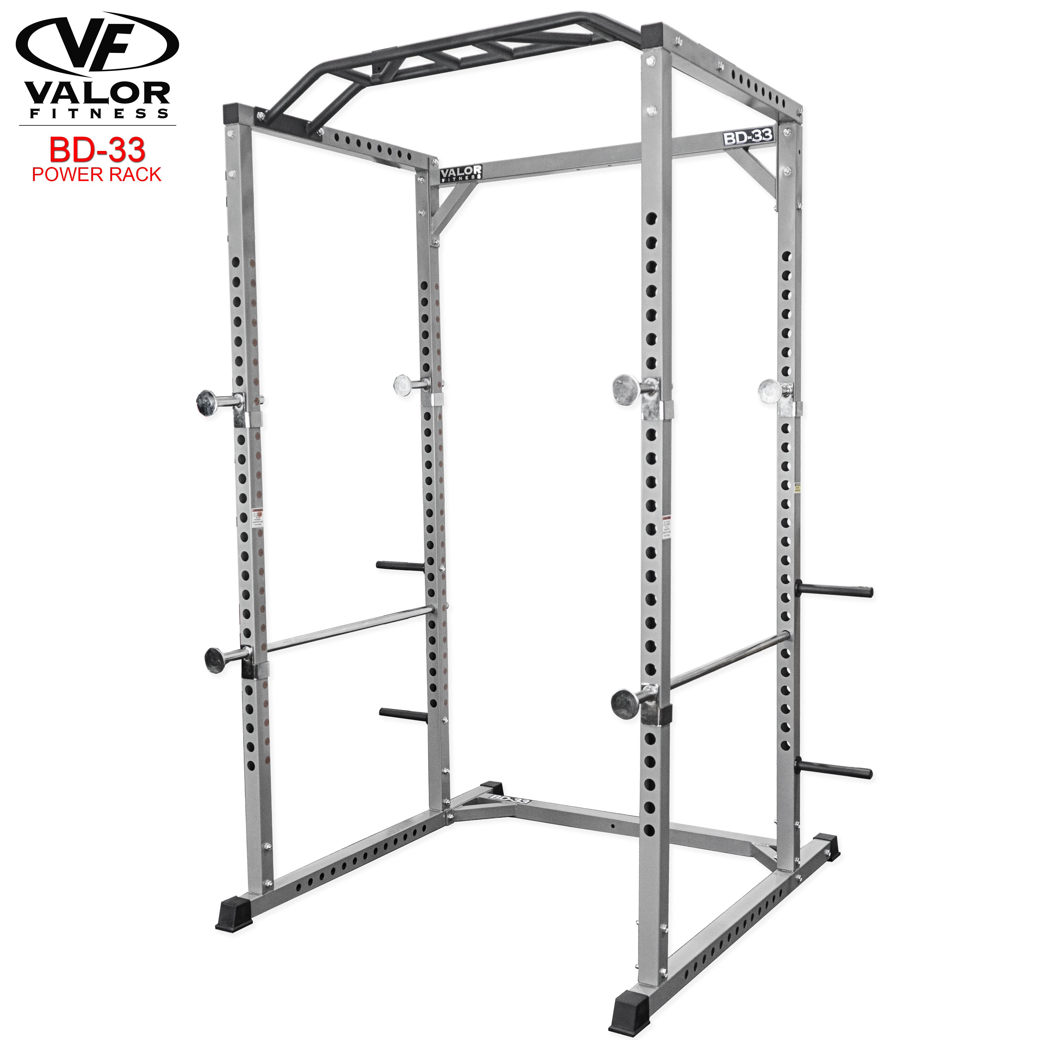 Valor Fitness BD-33 Heavy Duty Power Cage with Multi-Grip Chin-Up