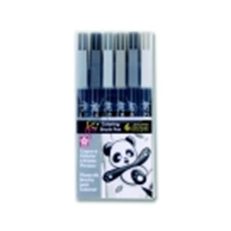 Sakura Non-Toxic Coloring Brush Marker, Pack - 6