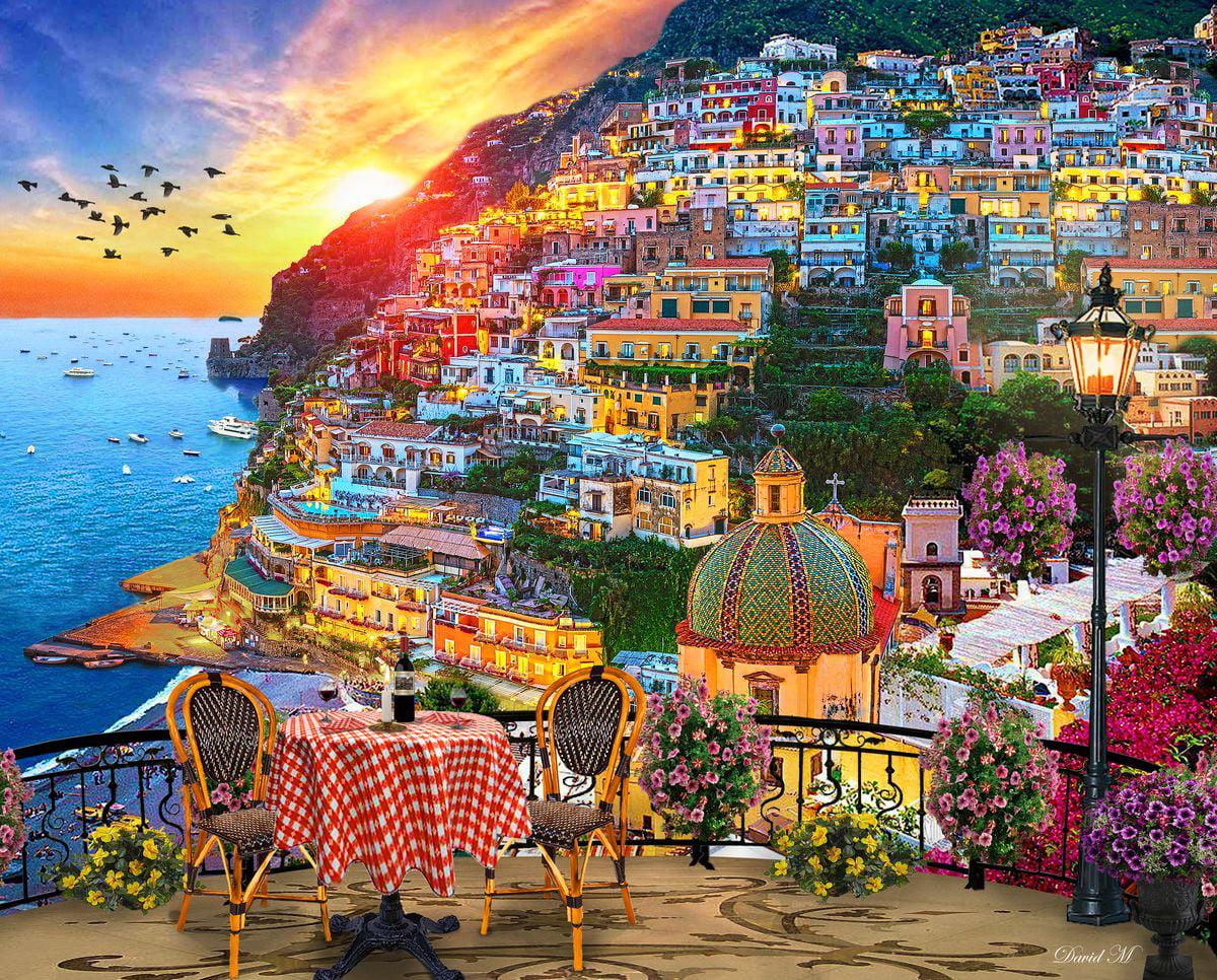 Springbok Puzzles - Positano Italy - 1000 Piece Jigsaw ...