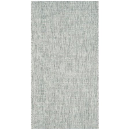 """Safavieh Courtyard 2'3"""" X 12' Power Loomed Rug in Gray and Turquoise - image 4 de 8"""