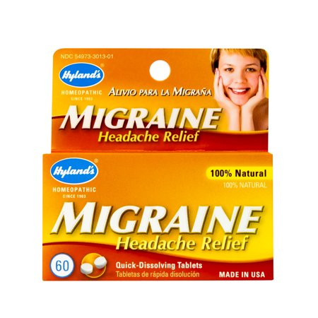 Hyland's Migraine Headache Relief Tablets, Natural Relief of Migraine Pain, 60