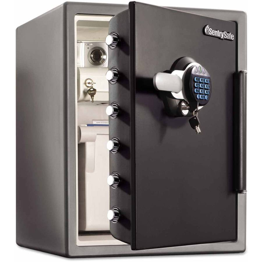 Sentry Safe Electronic Water-Resistant Fire-Safe 2 cu ft., SFW205GRC, Black