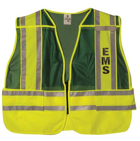 ML KISHIGO Pro Police Safety Vest,Green,2XL/4XL 8053FBZ-2X-4X