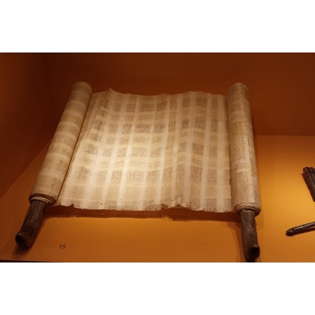 Canvas Print Scroll Font Old Antique Parchment Paper Leave Stretched Canvas 10 x
