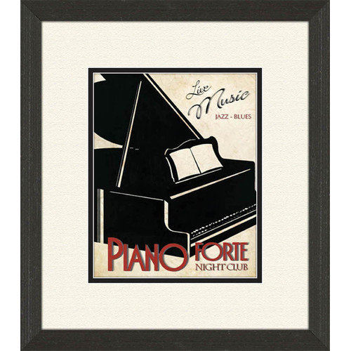 PTM Images Piano and Jazz Club A Framed Vintage Advertisement