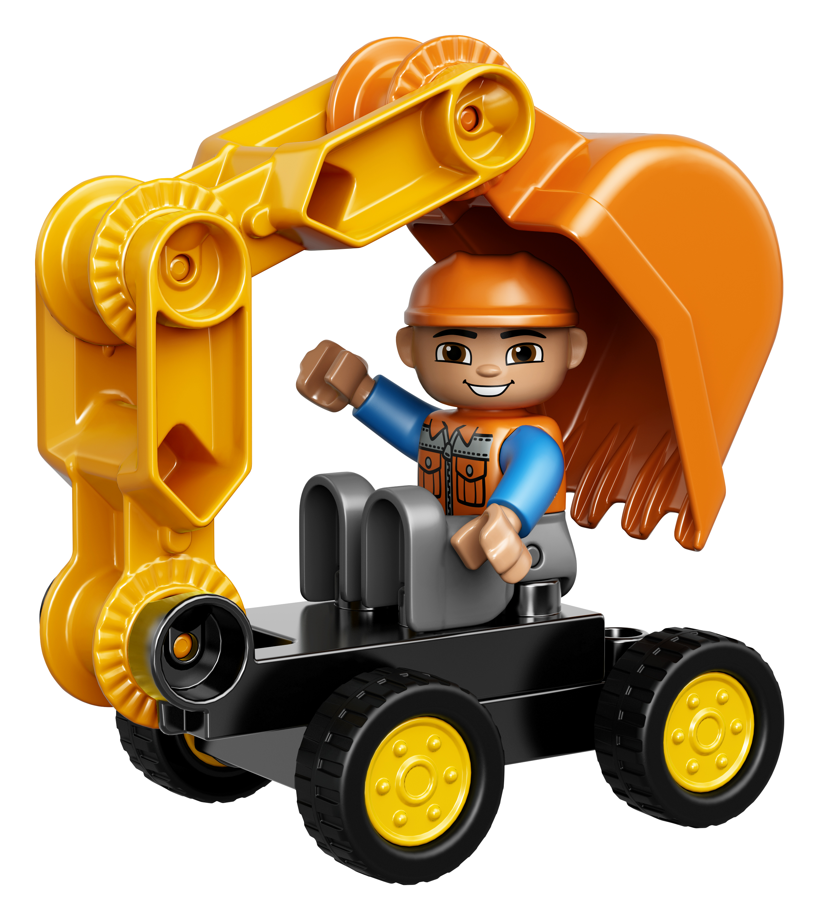Lego Duplo 10812 Truck and Tracked Excavator 100/% complete without box
