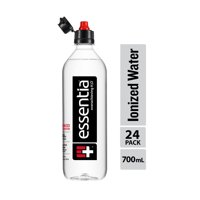 Essentia Water; 700mL Bottle; 24 pack; Ionized Alkaline Water with 9.5 pH or Higher; Purified Drinking Water Infused with Electrolytes for a Clean and Smooth Taste; Consistent Quality; Sports Cap