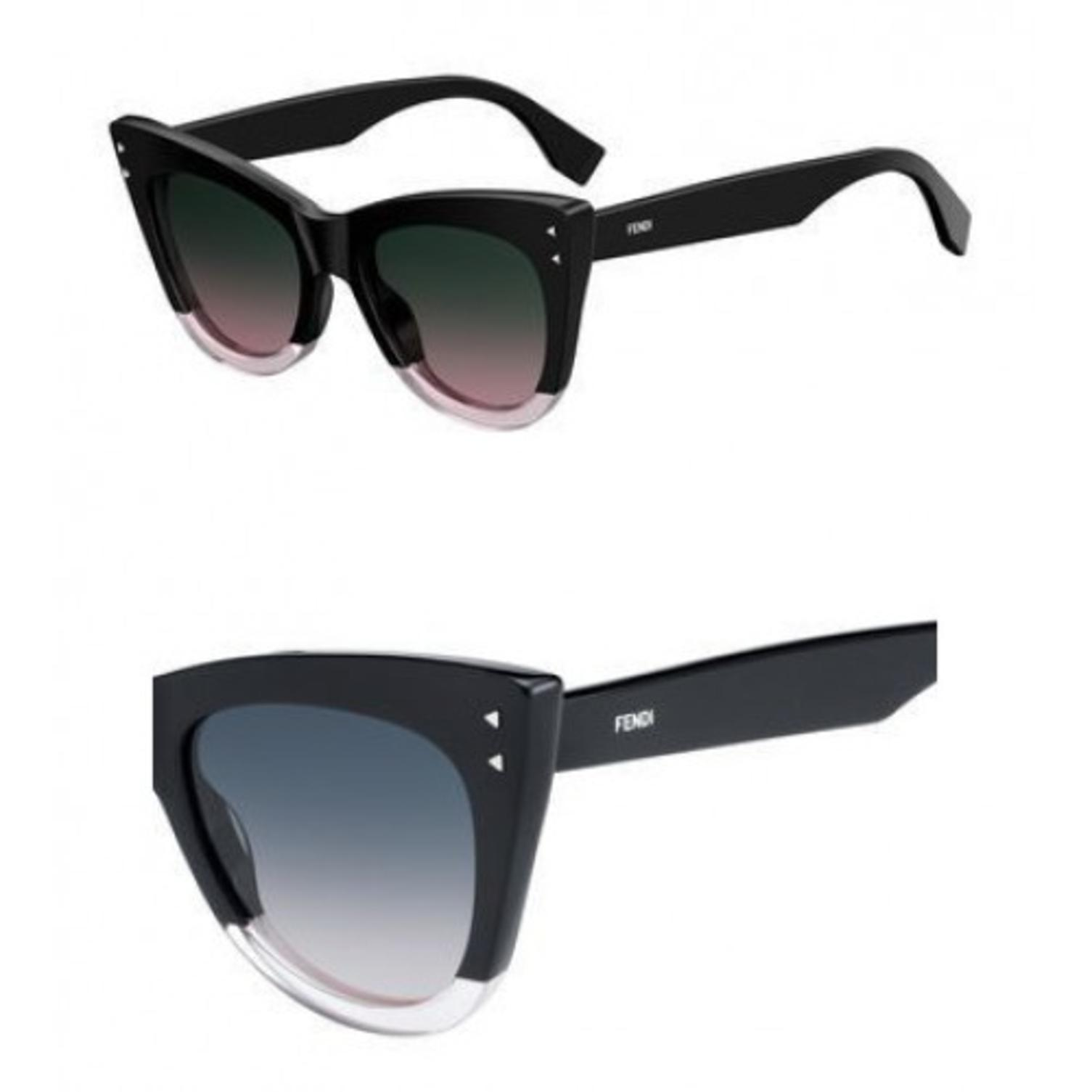 Sunglasses Fendi Ff 238 /S 03H2 Black Pink / JP green pink lens