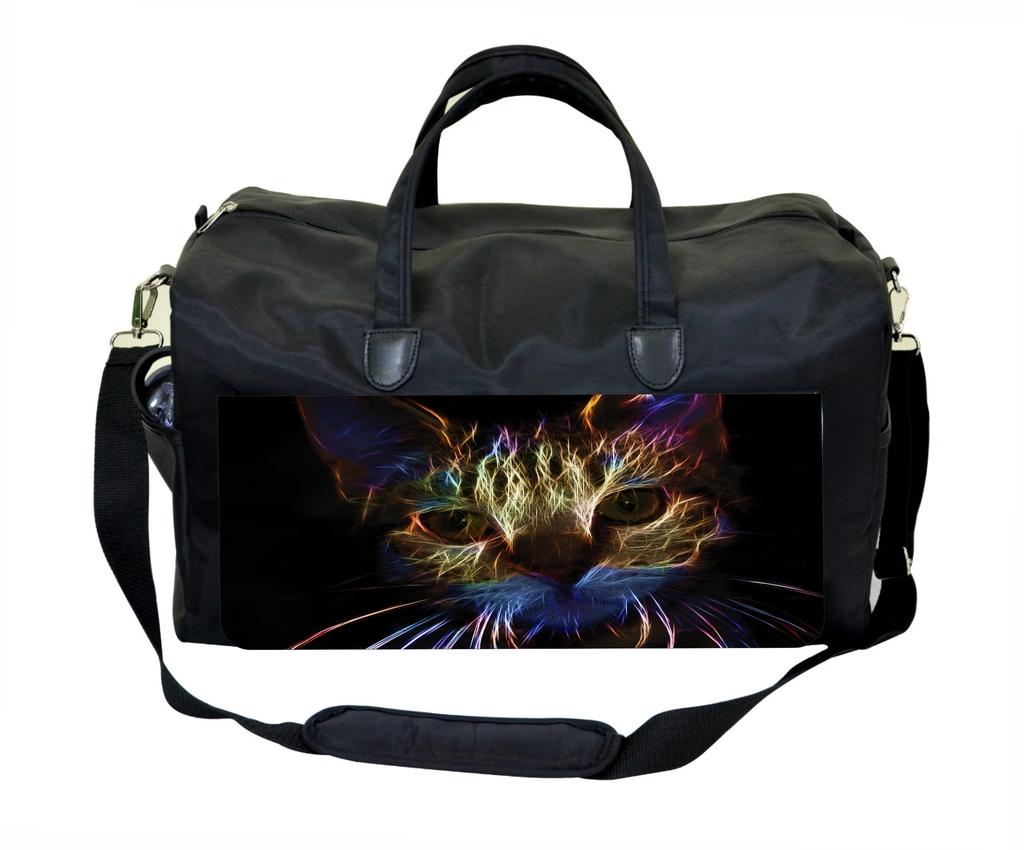 Cool Fractal Kitten Sports Bag
