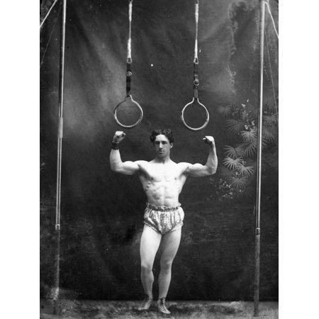Circus Strongman, 1885 Print Wall Art - Circus Strongman