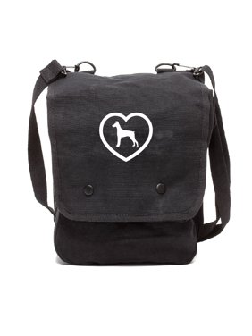 75aae06ed4 Product Image Doberman Canvas Crossbody Travel Map Bag Case in Black