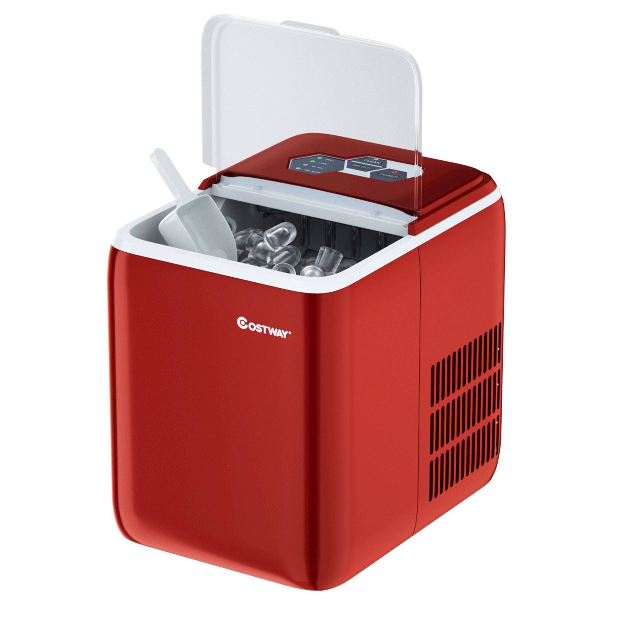 Costway Portable Countertop Ice Maker Machine 44lbs 24h Self Clean W Scoop Silverblackrednavy Walmart Com Walmart Com