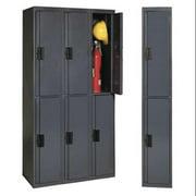 EDSAL SL8003 Double Tier Locker, Gray, 72x12