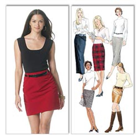 Mccalls Pattern Misses Skirts In 5 Lengths  Ff  16  18  20  22