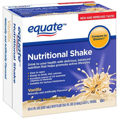 Equate Vanilla Nutritional Shake, 8 fl oz, 16 count 8113107413
