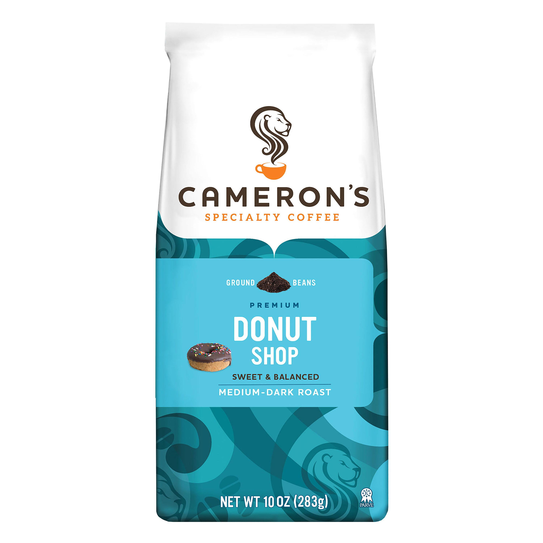 Cameron's Specialty Coffee Donut Shop Blend, Medium Roast, Ground 10oz Bag