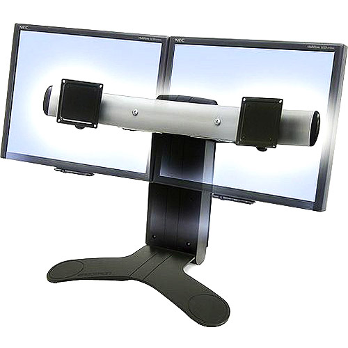 "Ergotron 33-299-195 LX Dual Display Lift Stand - Up to 28lb - Up to 23"" Flat Panel Display - Black"