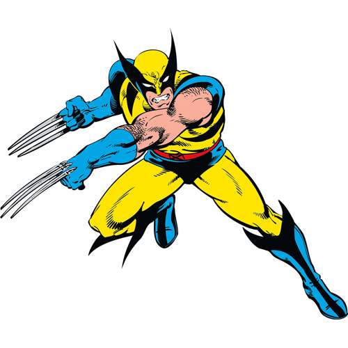 Marvel Classic Wolverine Peel-and-Stick Giant Wall Decals
