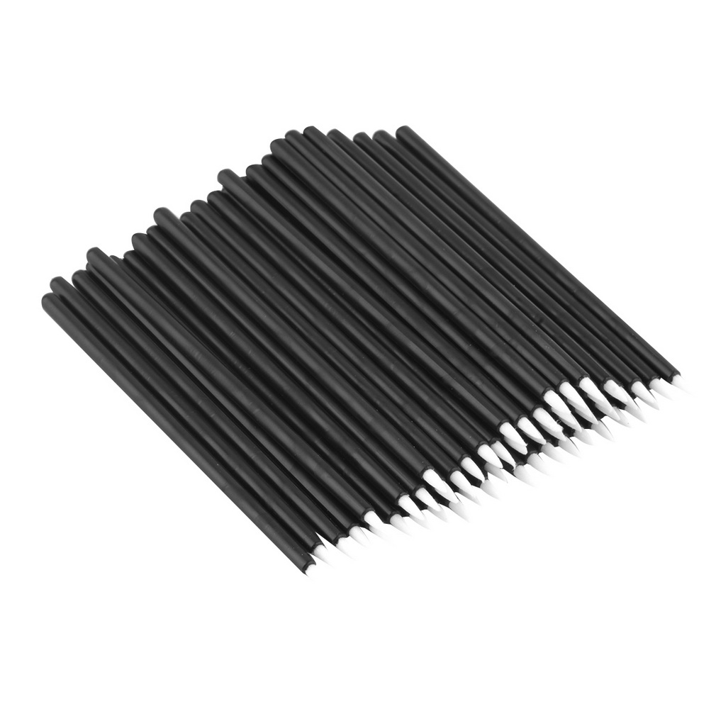 50Pcs Disposable Eyeliner Pencils Brushes Wands Applicator Cosmetic Makeup Tool