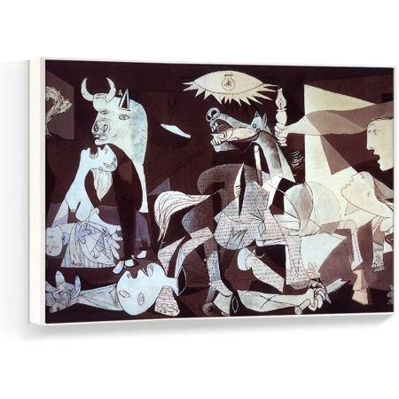 Wall26 Framed Canvas Wall Art for Living Room, Bedroom Pablo Picasso Guernica Canvas Prints for Home Decoration Ready to Hanging