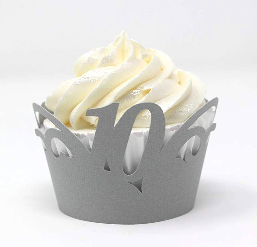 All About Details 10 Cupcake Wrappers,12pcs (Light Blue)
