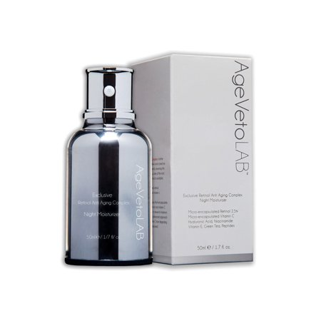 Anti-Aging Retinol Night Cream Hyaluronic Acid Vitamins Peptides. 1.7 Oz AgeVeto