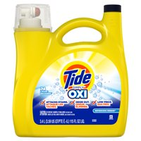 Tide Simply + Oxi Liquid Laundry Detergent, Refreshing Breeze, 74 Loads 115 fl oz