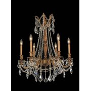 Worldwide Lighting W83305FG23-CL French Gold Windsor 6 Light Candle Style Crystal