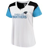 Product Image Women s Majestic White Blue Carolina Panthers Lace-Up V-Neck T -Shirt 7b5acce42