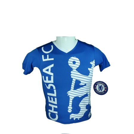 Rhinox Group Chelsea F.C. Soccer Official Youth Soccer Training Poly Jersey -I001 YS Chelsea Training Top