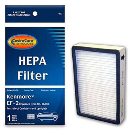 Replacement HEPA Filter for Kenmore EF-2 Canisters and Uprights, 1 EnviroCare Replacement HEPA Vacuum Filter for Kenmore EF-2 select Canisters and Uprights By EnviroCare,USA