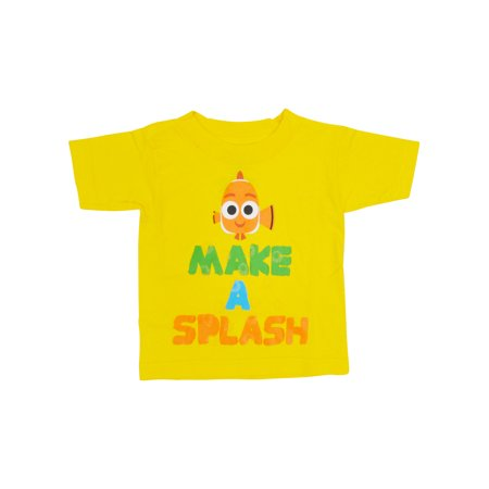 Toddler Boys Finding Nemo Splash T-Shirt Yellow - Finding Nemo Dress